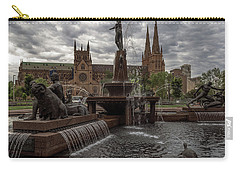 Archibald Fountain And St Mary's Cathedral Carry-all Pouch