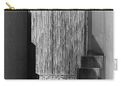 Architectural Waterfall In Black And White Carry-all Pouch