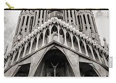 Architecture Antoni Gaudi La Sagrada Familia Barcelona Spain Sepia  Carry-all Pouch