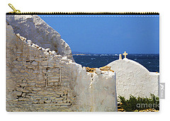 Carry-all Pouch featuring the photograph Architecture Mykonos Greece 2 by Bob Christopher