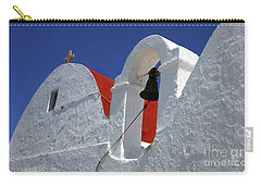 Carry-all Pouch featuring the photograph Architecture Mykonos Greece by Bob Christopher