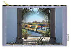 Archway To Wooden Bridge Montage Carry-all Pouch