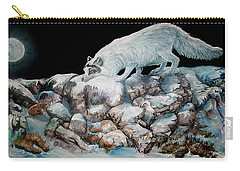 Carry-all Pouch featuring the painting Arctic Encounter by Sherry Shipley