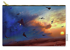 Carry-all Pouch featuring the digital art Area 51 Expanded Version by Dave Luebbert