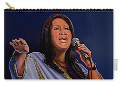 Aretha Franklin Painting Carry-all Pouch by Paul Meijering