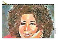 Aretha Franklin Carry-all Pouch by Wayne Pascall