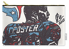 Carry-all Pouch featuring the drawing Arian Foster 2 by Jeremiah Colley