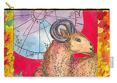 Carry-all Pouch featuring the painting Aries by Cathie Richardson