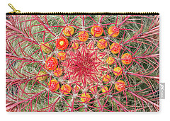 Arizona Barrel Cactus Carry-all Pouch by Delphimages Photo Creations