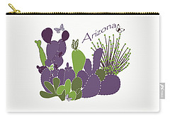 Arizona Cacti Carry-all Pouch by Methune Hively