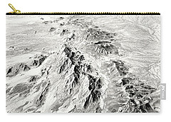 Arizona Desert In Black And White Carry-all Pouch