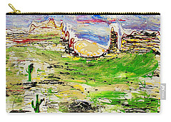 Carry-all Pouch featuring the painting Arizona Skies by J R Seymour