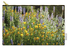 Carry-all Pouch featuring the photograph Arizona Spring Wildflowers  by Saija Lehtonen