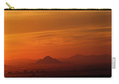 Carry-all Pouch featuring the photograph Arizona Sunrise by Anne Rodkin