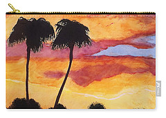 Carry-all Pouch featuring the painting Arizona Sunrise - Scottsdale 5 A.m. by Rand Swift