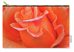 Arizona Territorial Rose Garden - Orange Flame Carry-all Pouch by Kirt Tisdale