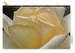 Carry-all Pouch featuring the digital art Arizona Territorial Rose Garden - Pale Yellow  by Kirt Tisdale