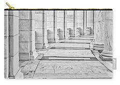 Carry-all Pouch featuring the photograph Arlington Amphitheater Arches And Columns II by Susan Candelario