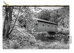 Carry-all Pouch featuring the photograph Arlington Green Covered Bridge by Guy Whiteley