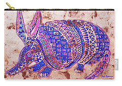 Carry-all Pouch featuring the painting Armadillo by J- J- Espinoza