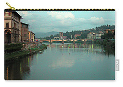 Carry-all Pouch featuring the photograph Arno River, Florence, Italy by Mark Czerniec