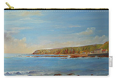 Carry-all Pouch featuring the painting Around Burnmouth Scotland by Beatrice Cloake