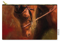 Around The First Turn Equestrian Art Carry-all Pouch by Jai Johnson
