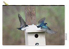 Carry-all Pouch featuring the photograph Arrival And Departure by Gary Wightman