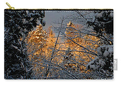Carry-all Pouch featuring the photograph Arrival by Elfriede Fulda