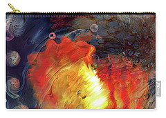 Carry-all Pouch featuring the digital art Arrival by Linda Sannuti