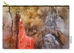 Carry-all Pouch featuring the painting Arrival by Mo T