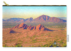 Arriving In Phoenix Digital Watercolor Carry-all Pouch