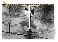 Carry-all Pouch featuring the photograph Arrow Slit by Rasma Bertz
