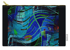 Carry-all Pouch featuring the digital art Art Abstract With Culture by Sheila Mcdonald