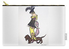Art Deco  1920's Girls And Dogs Carry-all Pouch
