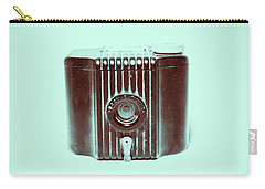 Art Deco Baby Brownie Blue Camera Carry-all Pouch