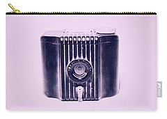 Art Deco Baby Brownie Purple Camera Carry-all Pouch