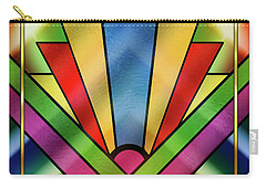 Art Deco Chevron 4 - Chuck Staley Carry-all Pouch by Chuck Staley