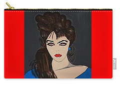 Art Deco  Girl Waiting Carry-all Pouch