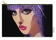 Flapper In Purple Hat Carry-all Pouch by Chuck Staley