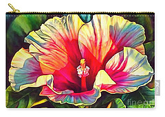 Art Floral Interior Design On Canvas Carry-all Pouch by Catherine Lott