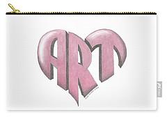 Art Heart Carry-all Pouch