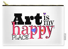 Art Is My Happy Place Carry-all Pouch