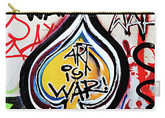 Carry-all Pouch featuring the photograph Art Is War by Art Block Collections