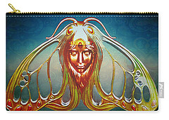 Art Nouveau Butterfly Woman Carry-all Pouch