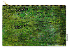 Art Print Green White Carry-all Pouch