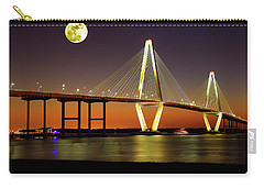 Arthur Ravenel Bridge At Night Carry-all Pouch