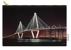 Arthur Ravenel Jr. Bridge At Midnight Carry-all Pouch