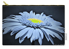 Artic Blue Gerber Daisy Carry-all Pouch