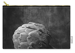 Artichoke Black And White Still Life Carry-all Pouch by Edward Fielding